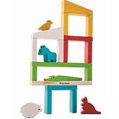 Развивающая игрушка PlanToys Построй зоопарк