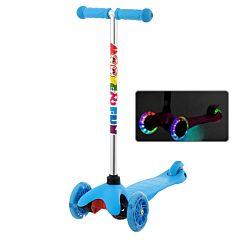 Самокат Moove&Fun Mini Led со светящимися колесами (голубой)