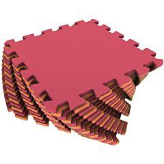 Мягкий пол Экополимеры 25*25 (красно-желтый)