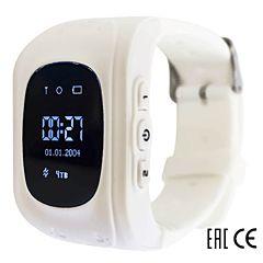 Детские часы с GPS-трекером SmartBabyWatch Q50 (белые)