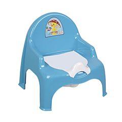 Горшок-кресло Dunya Plastik (голубой)