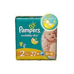 Подгузники Pampers New Baby-Dry Mini (3-6 кг) 27 шт