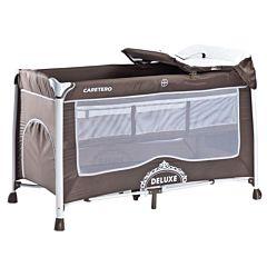 Манеж-кровать Caretero Deluxe (коричневый)