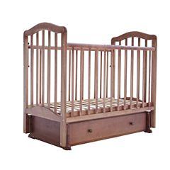 Кроватка детская Saidov Лаура 5 с ящиком (поперечный маятник) (итальянский орех)