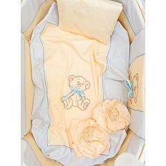 Комплект постельного белья Valle Peekaboo 120х60см (8 предметов, хлопок) голубой