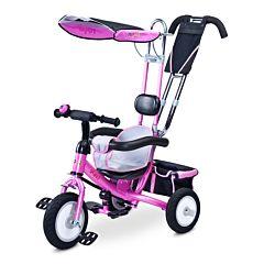 """Трехколесный велосипед Toyz Derby с колесами 9"""" и 8"""" (розовый)"""