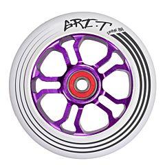 Колесо для самоката Grit Ultra Light 100мм ABEC 9 (фиолетово-белое)