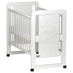 Кроватка детская Kitelli Micio (колеса-качалка) (Белый)