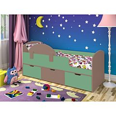 Кровать детская Ярофф Малыш Мини (бодего темный/зеленый)