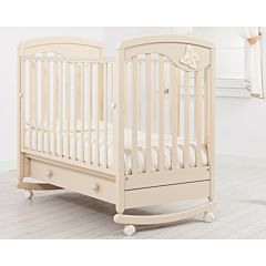 Кроватка детская Гандылян Джулия (качалка-колесо) (слоновая кость)