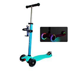 Самокат Ecoline Riley со светящимися колесами (голубой)