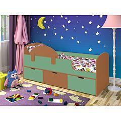 Кровать детская Ярофф Малыш Мини (вишня оксфорд/зеленый)