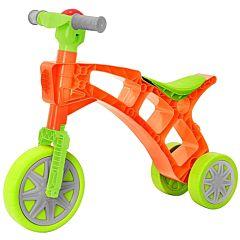 Беговел-мотоцикл RT Самоделкин T3220 с клаксоном (зелено-оранжевый)