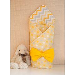 Одеяло на выписку летнее Арго Звездочка (желтое)