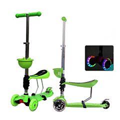 Самокат Babyhit ScooterOK Tolocar с сиденьем и светящимися колесами (зеленый)