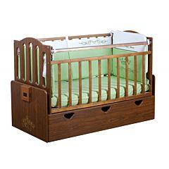 Автоматическая детская кровать Укачай-ка 03 (Орех)