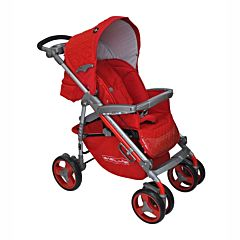 Коляска прогулочная Babylux 207B (6 колес) (ruby)