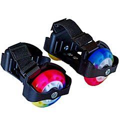 Ролики на обувь Moby Kids со светящимися колёсами (Черный)
