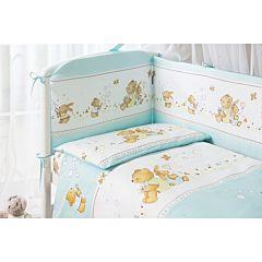 Комплект постельного белья Perina Фея Лето (4 предмета, хлопок/сатин) (Голубой)