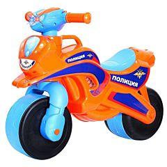 Беговел-мотоцикл RT Motobike Police со светом и сигналами (оранжевый)