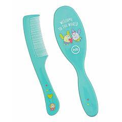 Набор детских расчёсок Happy Baby Basic Brush & Comb Set (Голубой)