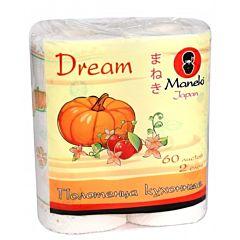 Полотенца кухонные бумажные Maneki Dream 2 слоя, 60 л, 2 рул./уп