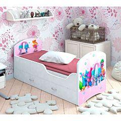 Кровать с ящиками Мебель Мечты Classic (тролли)