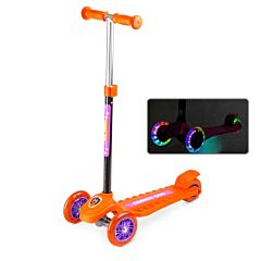 Самокат Small Rider Cosmic Zoo Galaxy One со светящимися колесами (оранжевый)