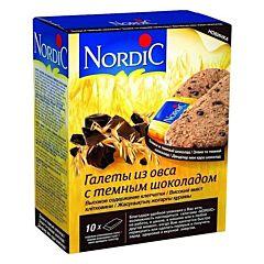 Галеты Nordic из овса с темным шоколадом 300 г