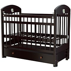 Кроватка детская Briciola 3 с продольным маятником (слоновая кость)