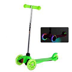Самокат Ridex 3D Kinder со светящимися колесами (Зеленый)