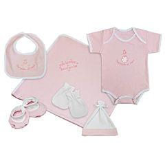 Комплект одежды для малыша Little People однотонный 6 пр. (розовый)