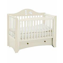 Кроватка детская Papaloni Olivia (продольный маятник) (Слоновая кость)