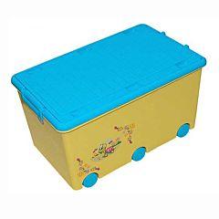 Корзина для игрушек Tega Baby на колесиках Веселая черепашка