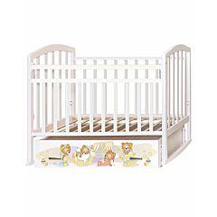 Кроватка детская Антел Алита 4 Медвежата (поперечный маятник) (белая)