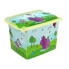 Ящик для хранения игрушек OKT Fashion-Box Бегемотик