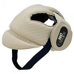 Шапка-шлем противоударная Ok Baby No Shock (бежевый)
