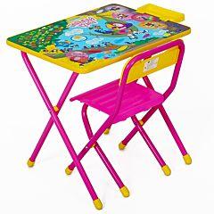 Комплект детской мебели Дэми Попугай Кеша (Розовый)