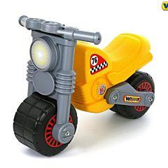 Мотоцикл-каталка Wader Моторбайк (Желтый)