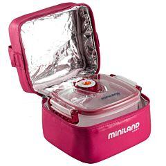 Термосумка Miniland Pack-2-Go-Hermifresh с 2 вакуумными контейнерами (Розовый)