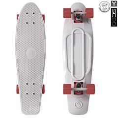 "Мини-круизер Y-Scoo Fish Skateboard 27"" с сумкой (серый)"