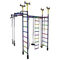 Детский спортивный комплекс Формула Здоровья Слоненок-1V Плюс (синий)