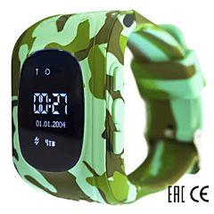 Детские часы с GPS-трекером SmartBabyWatch Q50 (хаки)