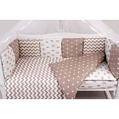 Комплект постельного белья из бязи AmaroBaby (18 предметов) Royal Baby коричневый