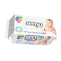 Влажные салфетки Senso Baby для детей 120 шт