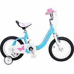 "Детский велосипед Royal Baby Butterfly Steel 14"" (голубой)"