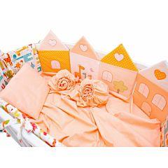 Комплект постельного белья Valle Grace 120х60см (8 предметов, хлопок) оранжевый