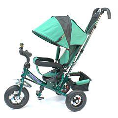 """Трехколесный велосипед Formula Trike F-5000 с надувными колесами 10"""" и 8"""" (зеленый)"""