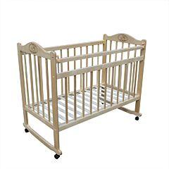 Кроватка детская Мой малыш Ивашка 1 (качалка-колесо) (светлый)