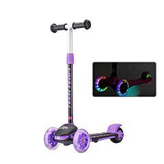 Самокат TechTeam TT Lambo со светящимися колесами (фиолетовый)